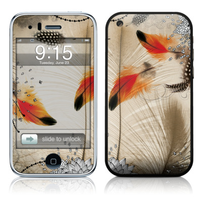 iPhone 3G Skin - Feather Dance