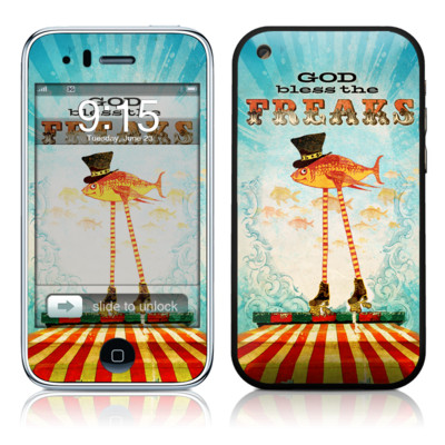 iPhone 3G Skin - God Bless The Freaks