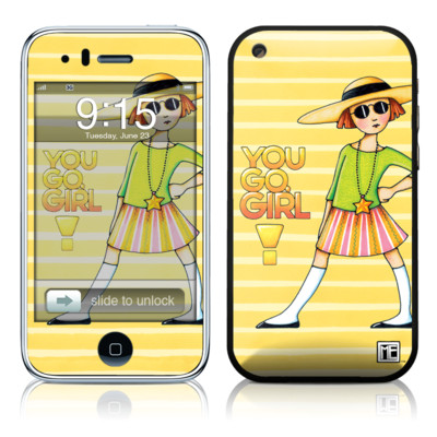 iPhone 3G Skin - You Go Girl