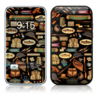 iPhone 3G Skin - Gone Fishing