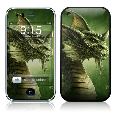iPhone 3G Skin - Green Dragon