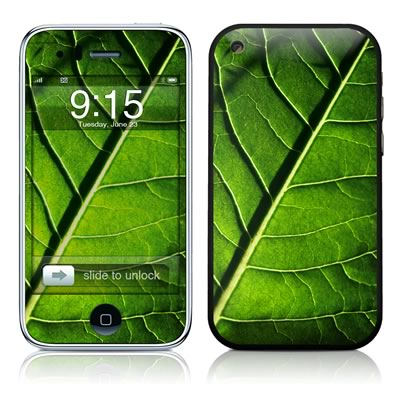 iPhone 3G Skin - Green Leaf
