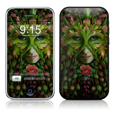 iPhone 3G Skin - Green Woman