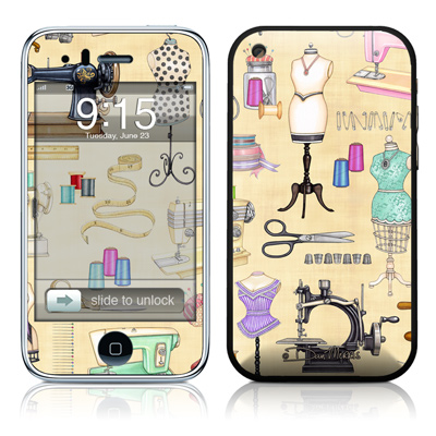 iPhone 3G Skin - Haberdashery