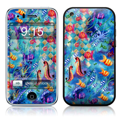 iPhone 3G Skin - Harlequin Seascape