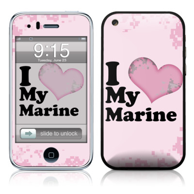 iPhone 3G Skin - I Love My Marine