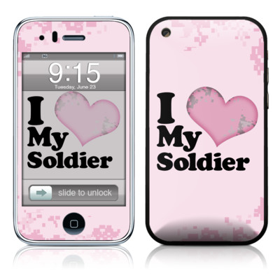 iPhone 3G Skin - I Love My Soldier