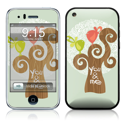 iPhone 3G Skin - Two Little Birds