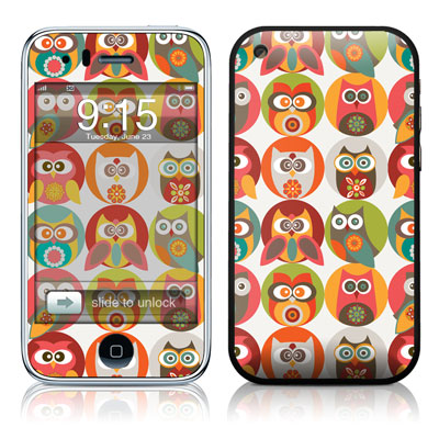 iPhone 3G Skin - Owls Family