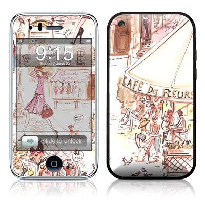 iPhone 3G Skin - Paris Makes Me Happy