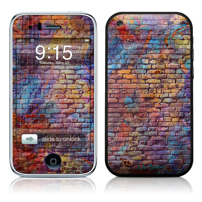 iPhone 3G Skin - Painted Brick