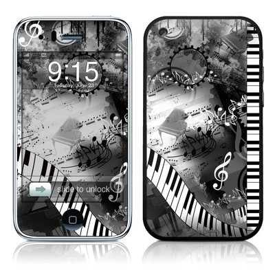 iPhone 3G Skin - Piano Pizazz