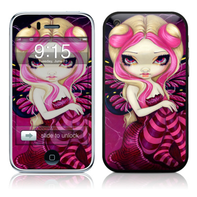 iPhone 3G Skin - Pink Lightning