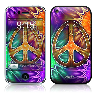 iPhone 3G Skin - Peace Triptik