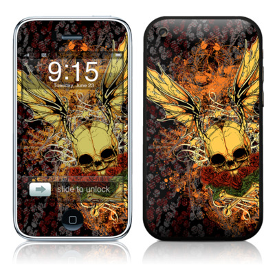 iPhone 3G Skin - Radiant Skull