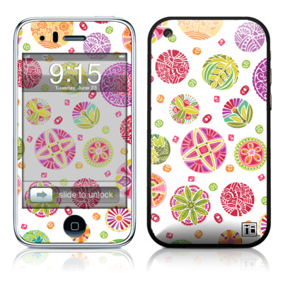 iPhone 3G Skin - Round Flowers