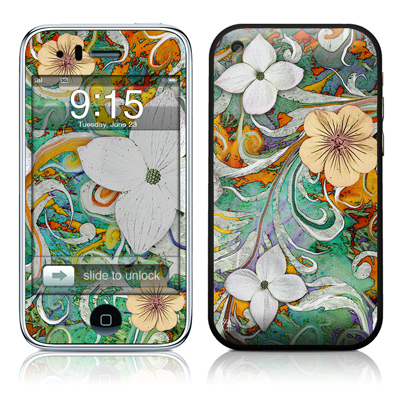 iPhone 3G Skin - Sangria Flora