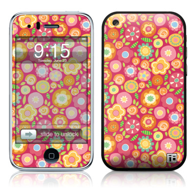 iPhone 3G Skin - Flowers Squished