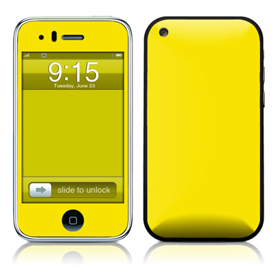 iPhone 3G Skin - Solid State Yellow