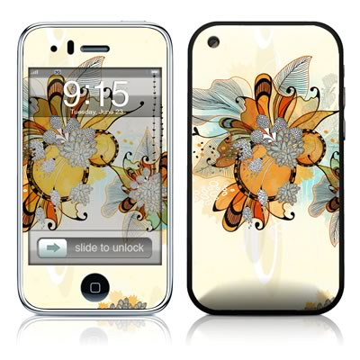iPhone 3G Skin - Sunset Flowers