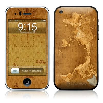 iPhone 3G Skin - Upside Down Map