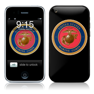 iPhone 3G Skin - USMC Black