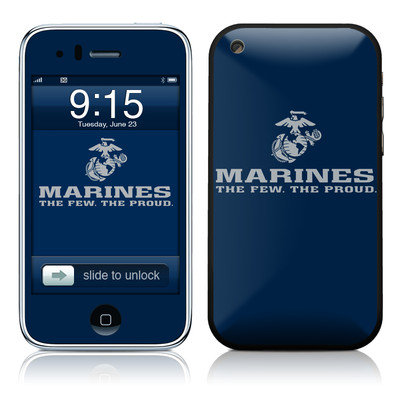 iPhone 3G Skin - USMC Blue