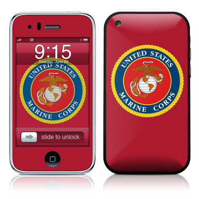 iPhone 3G Skin - USMC Red