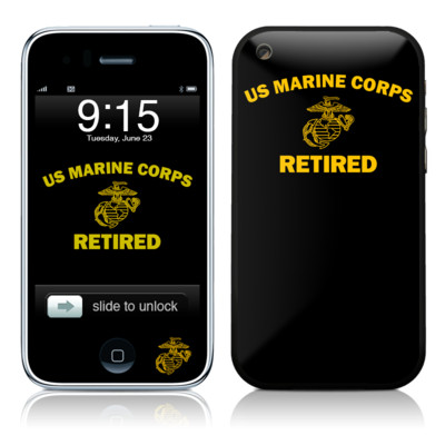 iPhone 3G Skin - USMC Retired