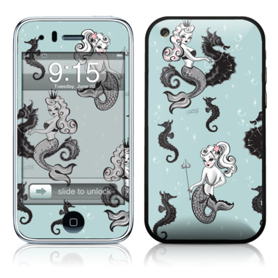 iPhone 3G Skin - Vintage Mermaid