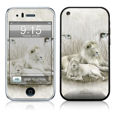 iPhone 3G Skin - White Lion