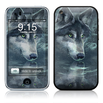 iPhone 3G Skin - Wolf Reflection