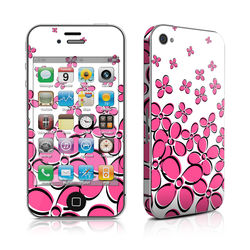 iPhone 4 Skin - Daisy Field - Pink