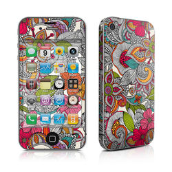 iPhone 4 Skin - Doodles Color