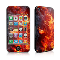 iPhone 4 Skin - Flower Of Fire