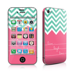 iPhone 4 Skin - Live Laugh Love