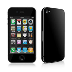 iPhone 4 Skin - Solid State Black