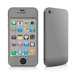 iPhone 4 Skin - Solid State Grey