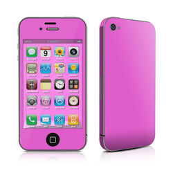 iPhone 4 Skin - Solid State Vibrant Pink