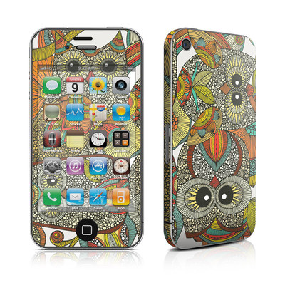 iPhone 4 Skin - 4 owls