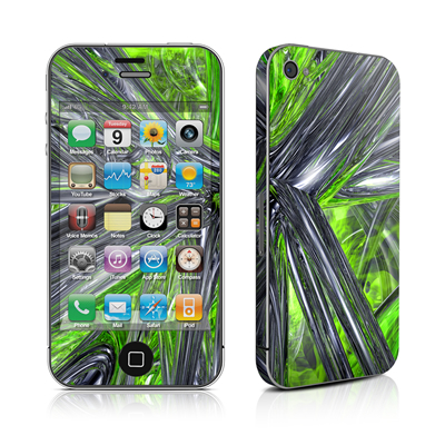 iPhone 4 Skin - Emerald Abstract