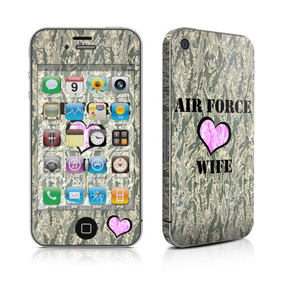 iPhone 4 Skin - Air Force Wife