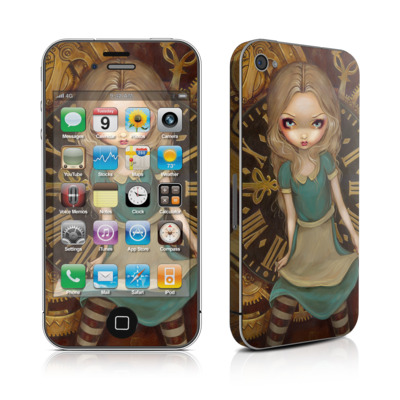iPhone 4 Skin - Alice Clockwork