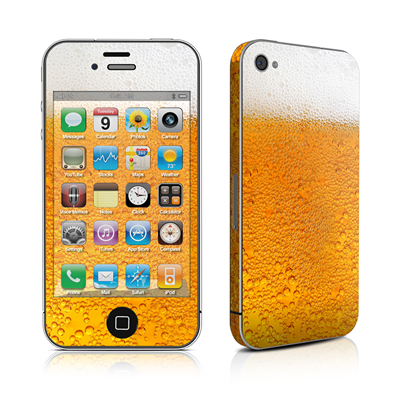 iPhone 4 Skin - Beer Bubbles