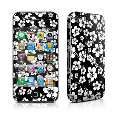 iPhone 4 Skin - Aloha Black
