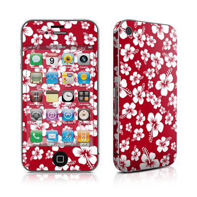 iPhone 4 Skin - Aloha Red