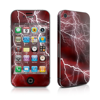 iPhone 4 Skin - Apocalypse Red