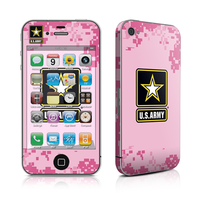 iPhone 4 Skin - Army Pink