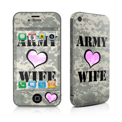 iPhone 4 Skin - Army Wife