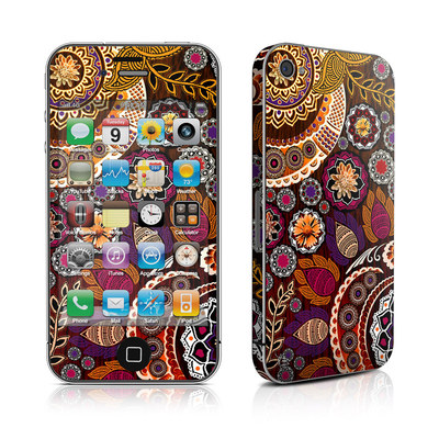 iPhone 4 Skin - Autumn Mehndi